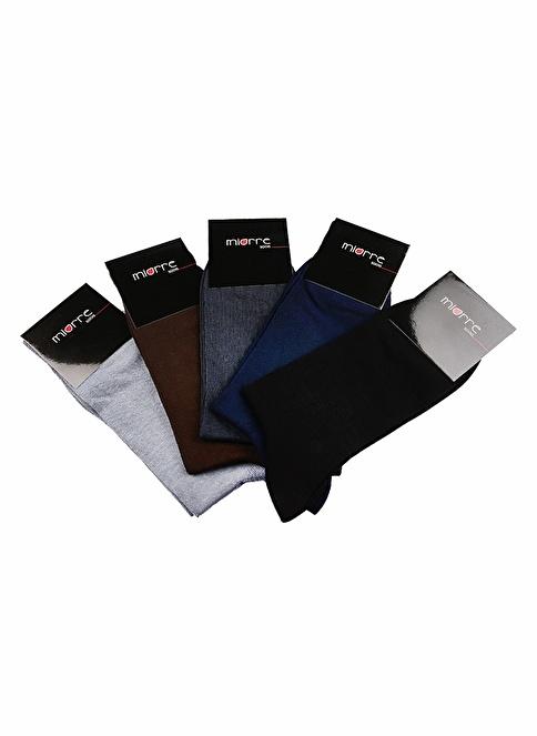 Miorre 5'Li Klasik Çorap Renkli